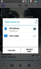 LG Optimus G: Reproductor de música