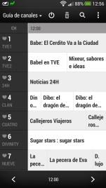 HTC One: Aplicación TV