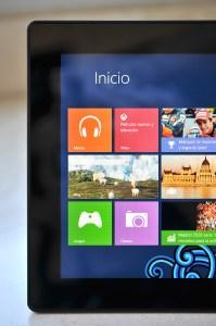 Microsoft Surface RT pantalla parcial