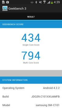 Test Geekbench Galaxy S4 Zoom