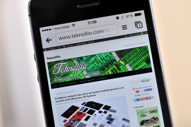 iPhone 5s - navegador
