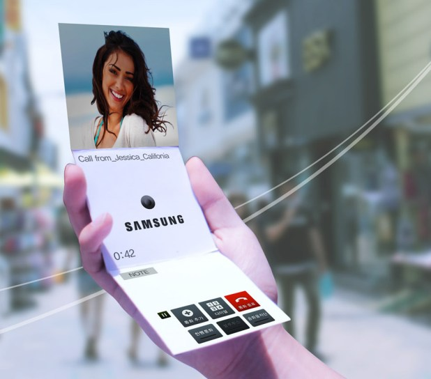 Pantallas plegables de Samsung