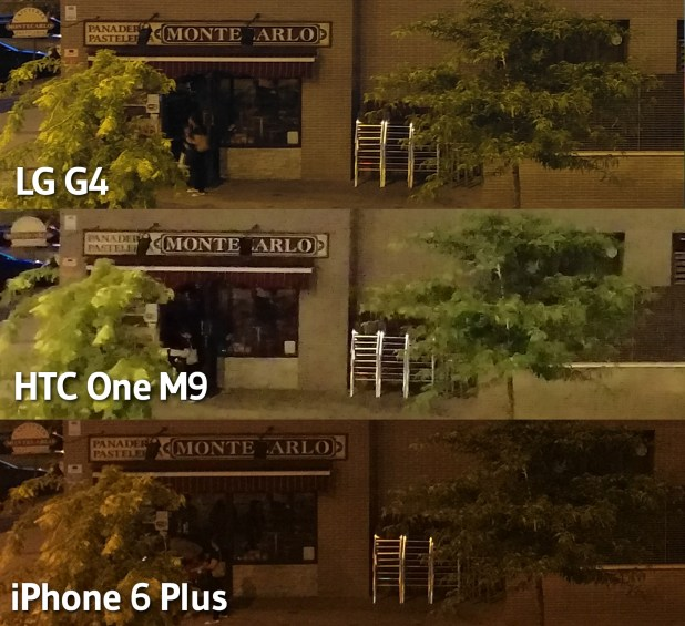 HTC One M9 - LG G4 - iPhone 6 Plus - Nochejpg