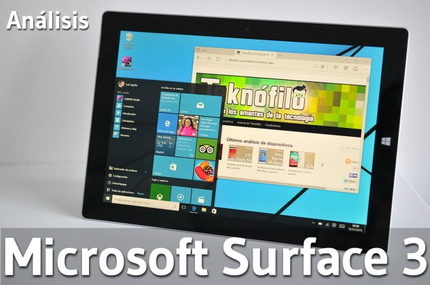MS Surface 3 - Analisis