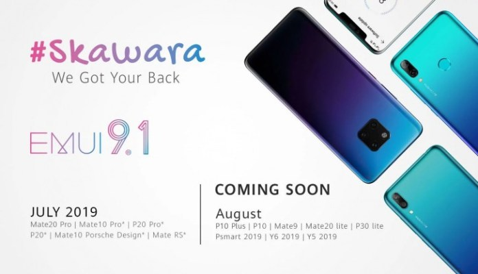 EMUI 9.1 alacak Huawei modelleri belli oldu