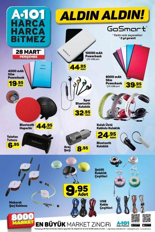 A101 28 Mart Perşembe Tüketici Elektroniği Ürünleri