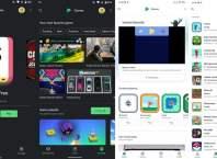 Google Play Games eski ve yeni tasarım