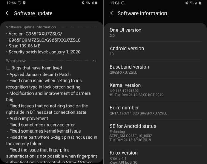 Galaxy S9 güncelleme
