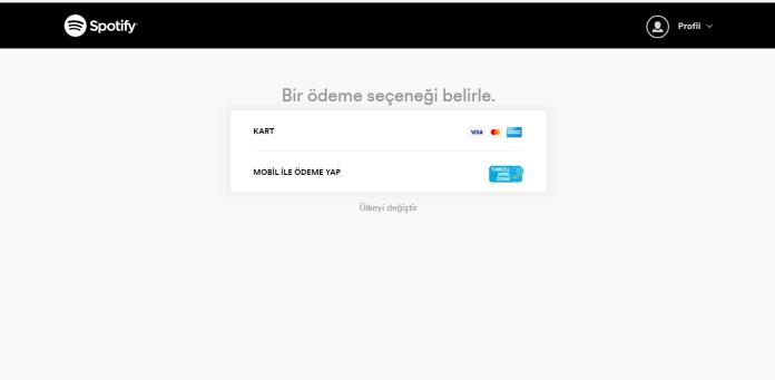 Spotify Ödeme