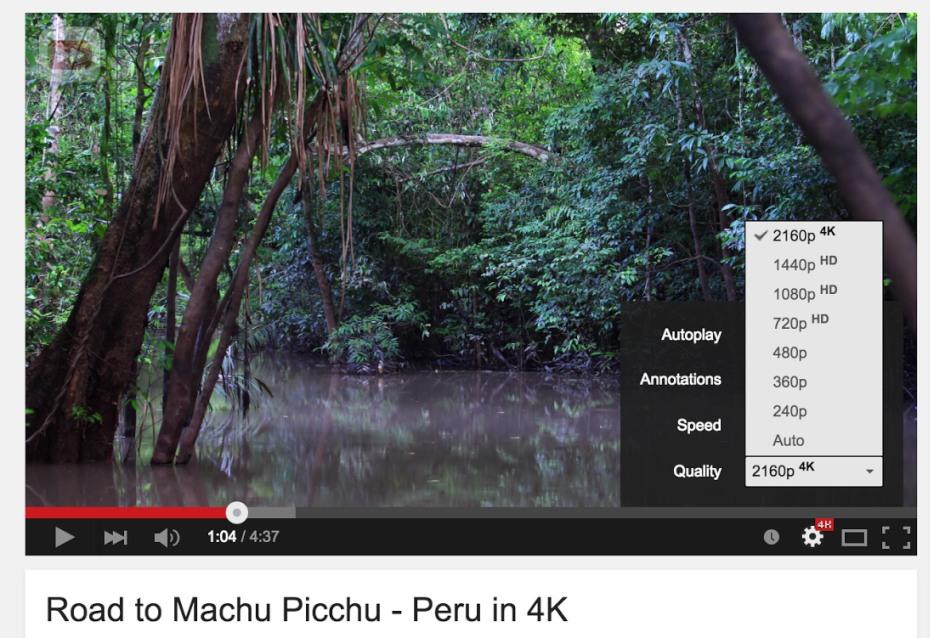 YouTube introduce il 4K nei suoi video