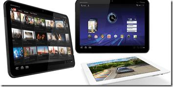 Motorola Xoom, Honeycomb, iPad
