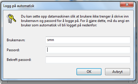 Windows 7 pålogging passord