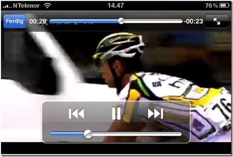 Cavendish i HTC drakt vist på iPhone! Skjermbilde: App Store