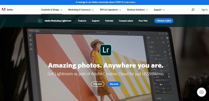 Adobe Lightroom - Aplikasi edit foto PC