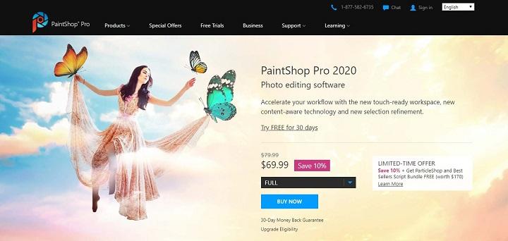 PaintShop Pro - Aplikasi edit foto PC