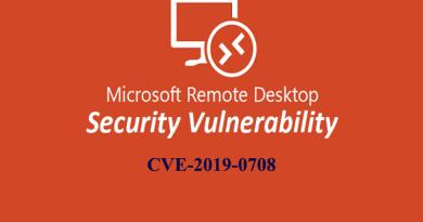 Remote Desktop Services RCE Remote Code Execution (RCE) vulnerability CVE-2019-0708