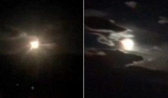 Çin'de Gökyüzünde Dev Bir Alev Topu Görüntülendi