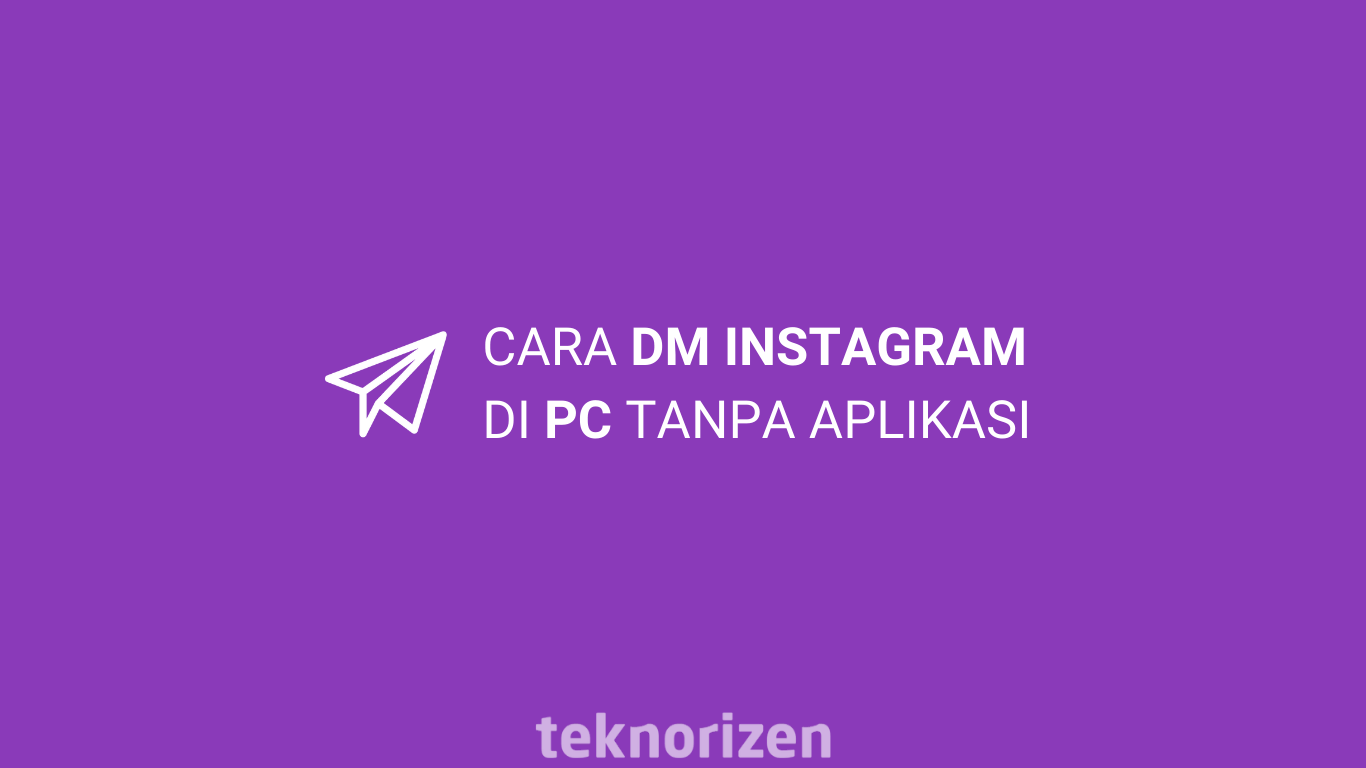 cara dm instagram di pc