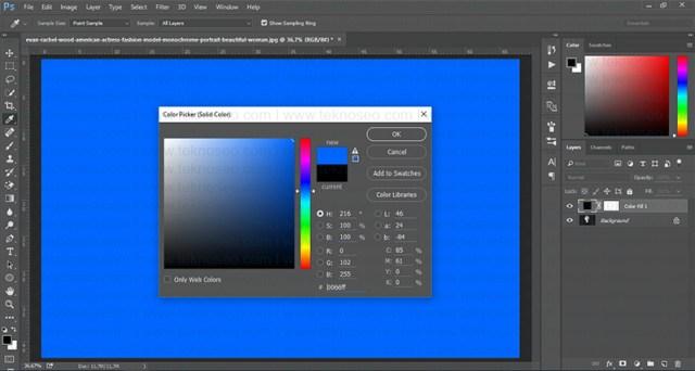 photoshop,siyah beyaz fotoğraf,renklendirme,solid color,soft light