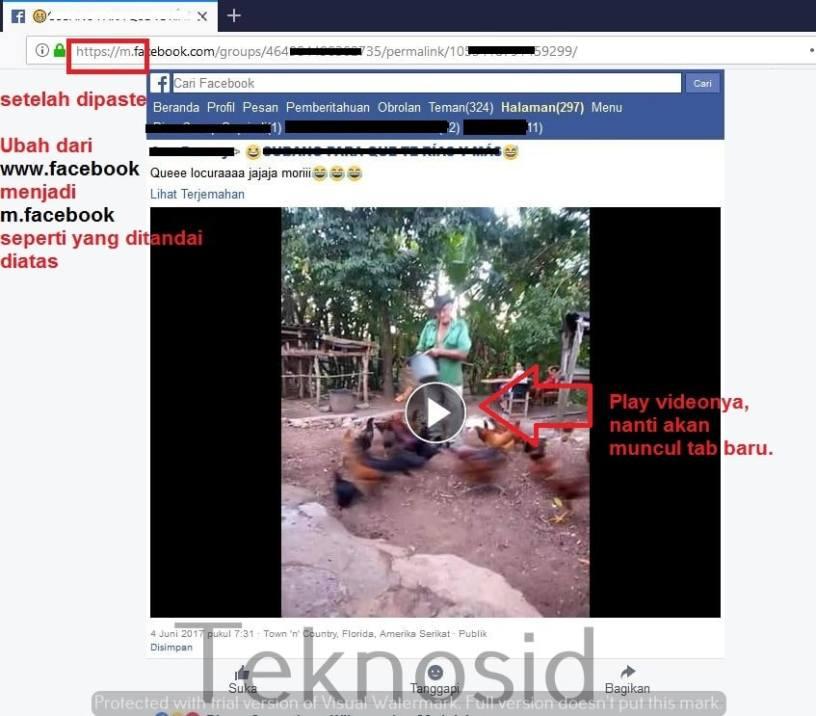 cara download video hd di facebook