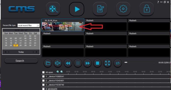 Membuka file video format AV - CMS CLient
