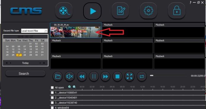 Membuka file video format AV - CMS CLient
