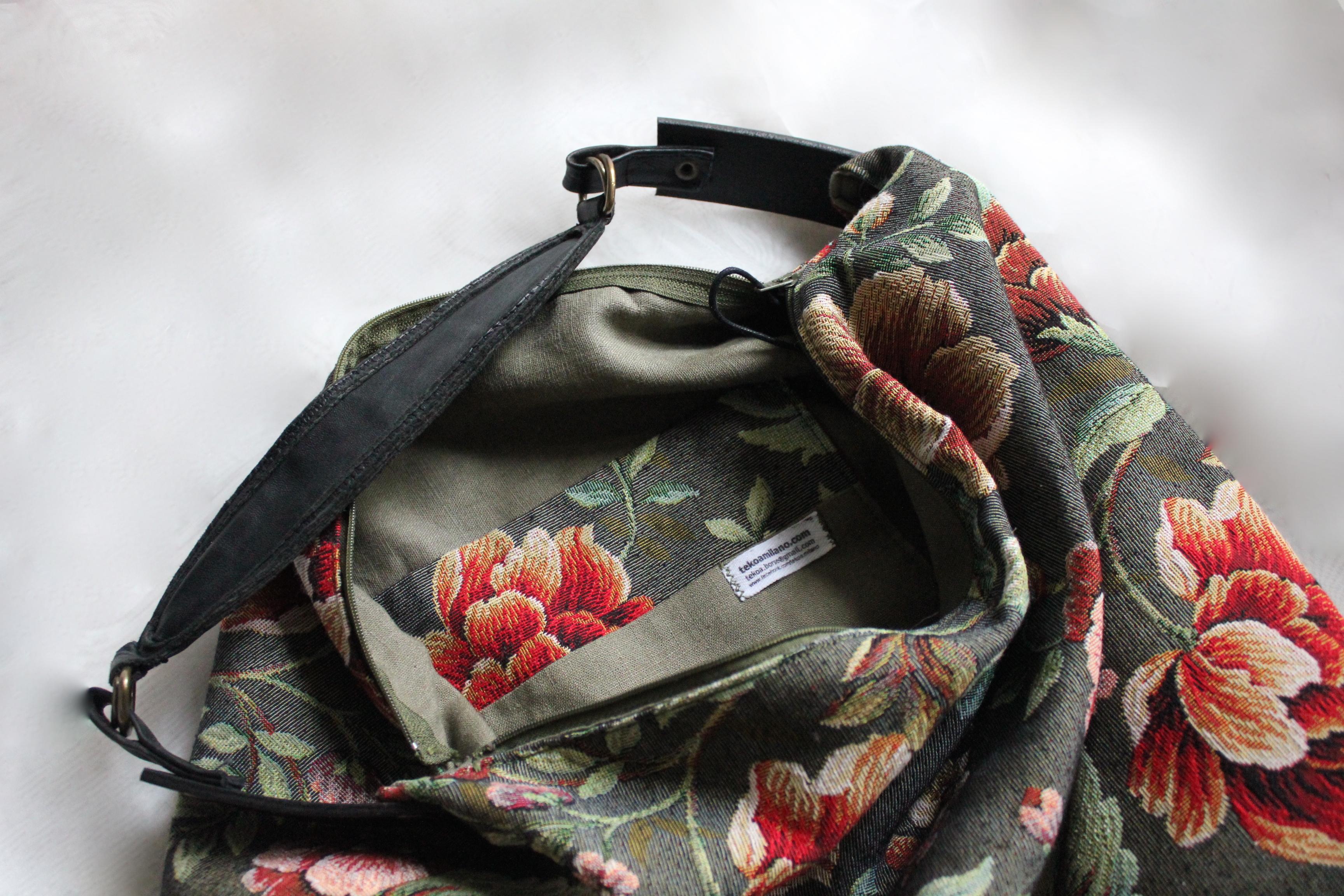 Borse Artigianali Tessuto : Roseto borsa di tessuto fatta a mano tekoa milano