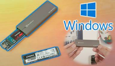 External M.2 NVMe SSD Windows