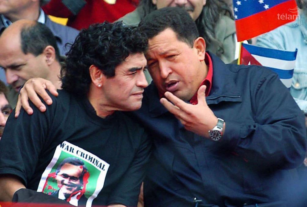 Hugo Chávez y Diego Maradona en Mar del Plata
