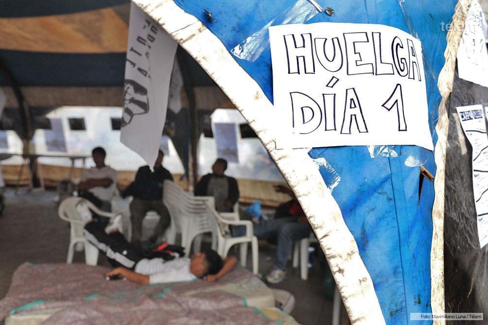 Carpa villera en huelga de hambre por la urbanización de los barrios