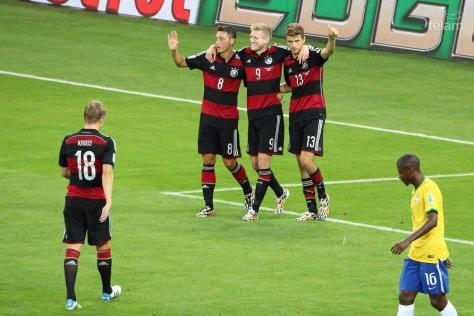 Alemania eliminó a Brasil de su Mundial con una paliza histórica: 7 -1