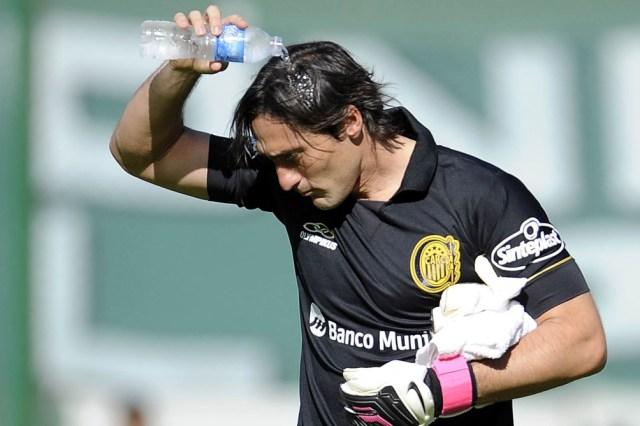 Mauricio Caranta, cuando atajaba en Rosario Central. (foto archivo)