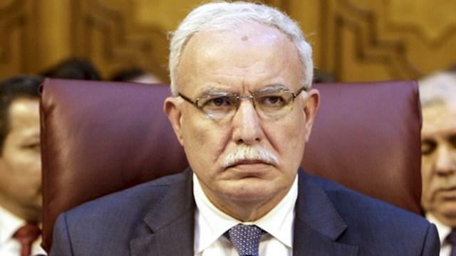 Riyad Al-Maliki, ministro palestino de Relaciones Exteriores.