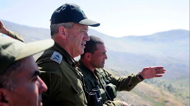 """Benny Gantz designó a Líbano como """"responsable de las operaciones terroristas desde su territorio""""."""