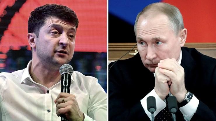 Vladimir Zelenski y Vladimir Putin enfrentados desde 2014.