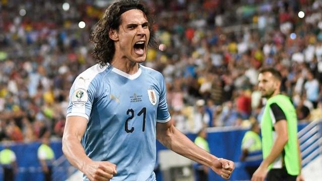 """Cavani, uno de los puntales de la """"Celeste"""" para la Copa América de Brasil 2021 (foto archivo)"""