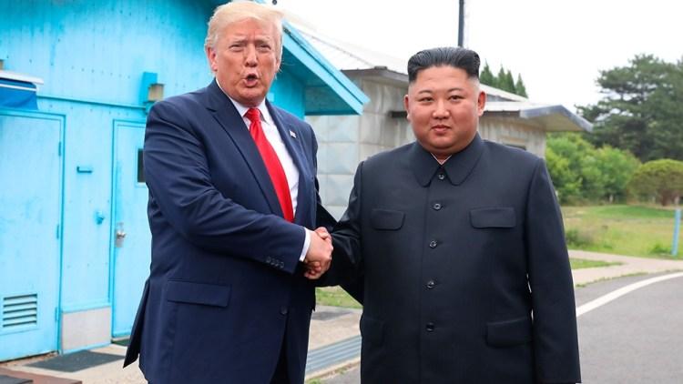 El presidente Donald Trump y su par coreano, Kim Jong-un.