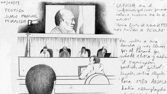 """""""Dibujos urgentes"""", retratos de víctimas y represores en un libro sobre juicios de lesa humanidad, Periódico San Juan"""