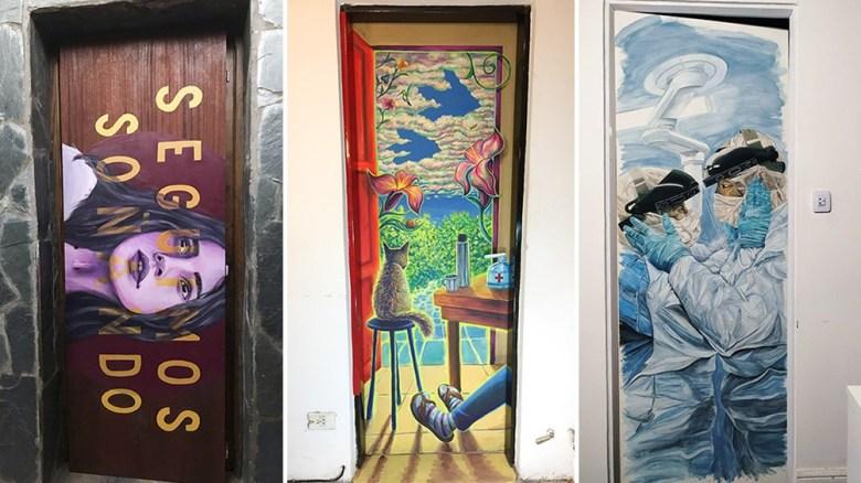 Puertas intervenidas: el espacio del arte en època de aislamiento.