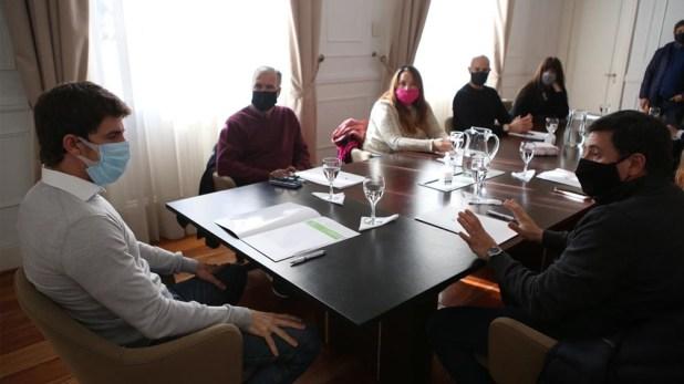 Durante la visita, Daniel Arroyo firmó un convenio con la Secretaría Nacional de Niñez, Adolescencia y Familia