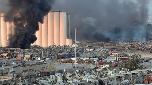 La explosión del martes causó una enorme destrucción