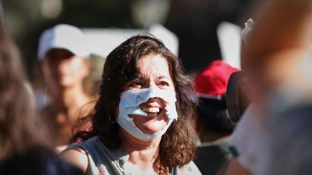 Algunos participantes intentaron tomar el Paseo de la Castellana y la Policía Nacional se lo impidió.