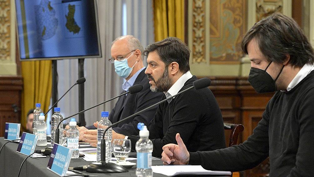 Daniel Gollan junto a Nicolás Kreplak y Carlos Bianco
