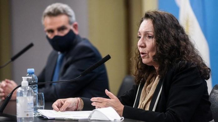 Cristina Caamaño y Agustín Rossi
