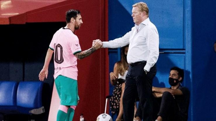 Koeman destacó a Messi