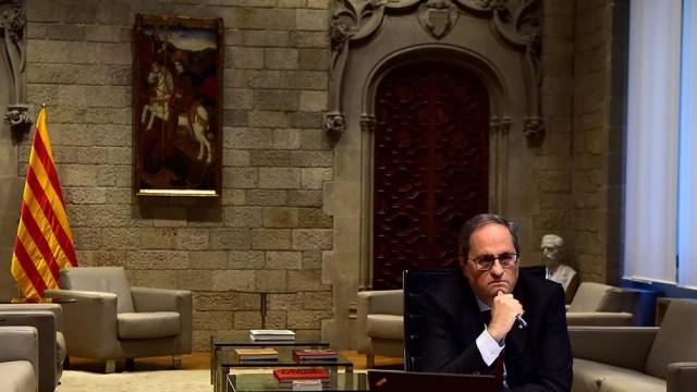 El Tribunal Supremo tomó una decisión inédita contra el presidente catalán