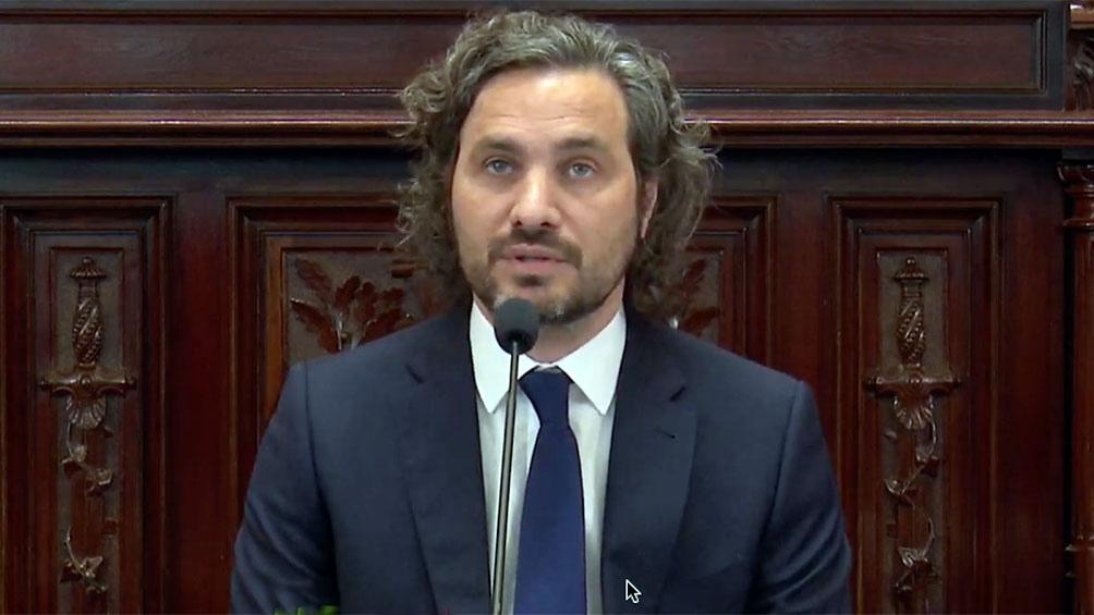 El jefe de Gabinete, Santiago Cafiero. visitará a los senadores el próximo jueves 27 de mayo.