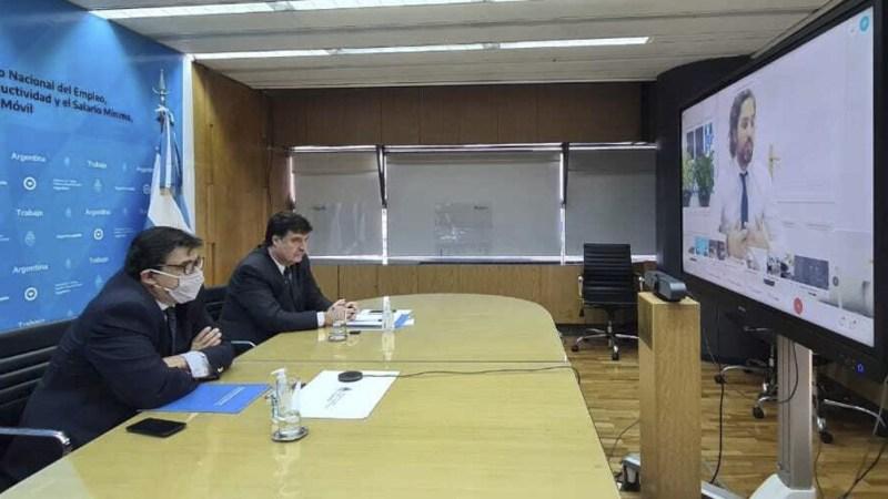 Una de las últimas reuniones que se realizó mediante una vieoconferencia.