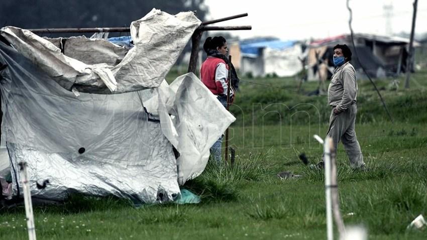 Hasta hace cinco días, más de 600 familias habían abandonado el predio.