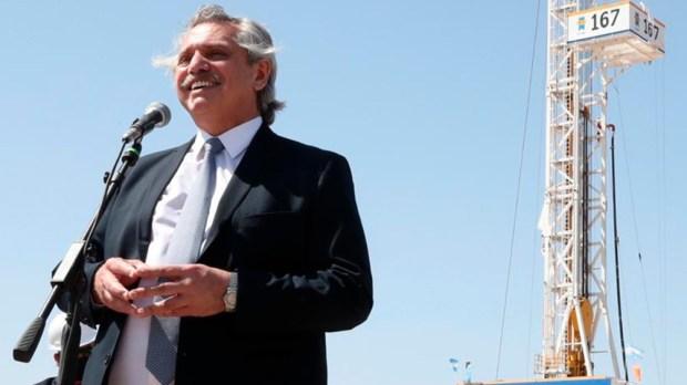"""""""Pensar en tener el gas suficiente, producido en Argentina, es una enorme tranquilidad"""", dijo Fernández."""